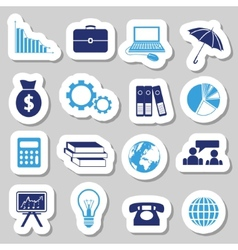 Economy stickers vector