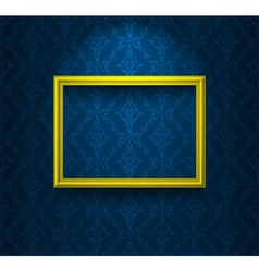 Frame on the blue wall vector image vector image