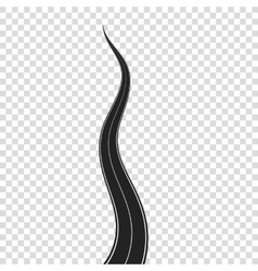 Highway with White Road Marking vector image