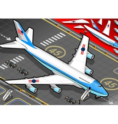 Isometric Air Force One in Front View vector image vector image