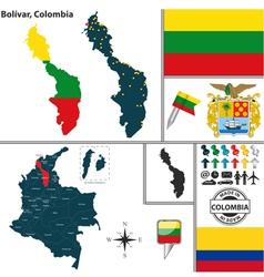Map of bolivar vector