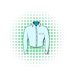 Mens shirt icon comics style vector image vector image