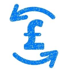 Refresh Pound Balance Grainy Texture Icon vector image