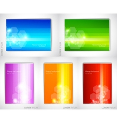 Set of bright backgrounds vector image vector image