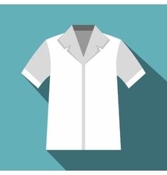 Shirt polo icon flat style vector
