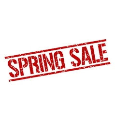 spring sale stamp vector image vector image