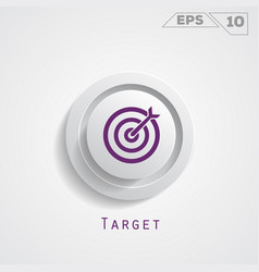 Target circle icon vector