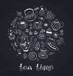 tea time circle bb vector image vector image