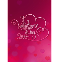 Valentines Card Valentines Day 2014 Rubie vector image vector image