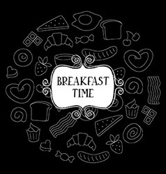 Vintage poster - breakfast vector