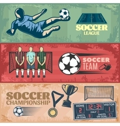 Soccer horizontal banners vector