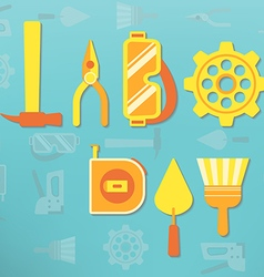 Labor day tools vector