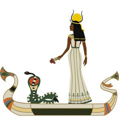Egyptian god vector