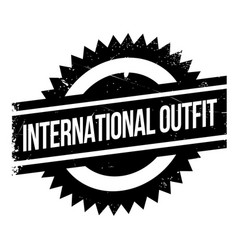 International outfit rubber stamp vector