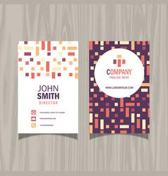 Modern pattern business card design vector