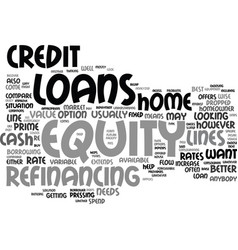 Equity loans analyzed and compared text vector