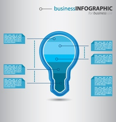 Modern high-tech bulb info graphic vector