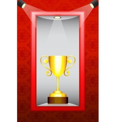 Trophy in display vector