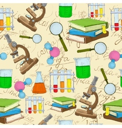 Science sketch seamless background vector image