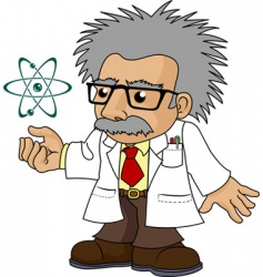 Illustration of nutty science professor vector