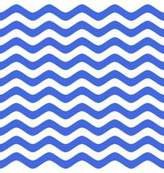 blue wavy chevron seamless pattern vector image