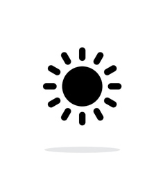Sun weather icon on white background vector