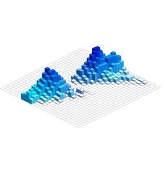 Infographic isometric graph vector
