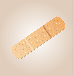 Realistic flexible fabric bandage vector