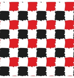 Black and red check seamless pattern vector