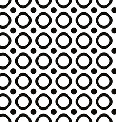 Polka dot seamless pattern with geometric figures vector image