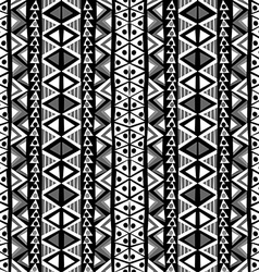 Black and white ethnic motifs background in doodle vector