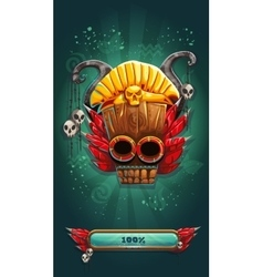 Jungle shamans mobile gui game loading screen vector