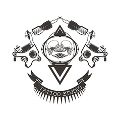 Tattoo studio logo emblem vector