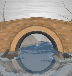 River bridge vector
