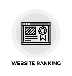 Website Ranking Line Icon vector image