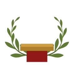 Wreath icon winner concept graphic vector