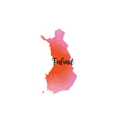 Abstract finland map vector