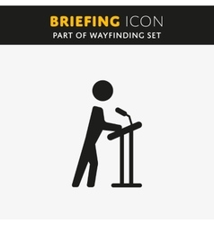 Briefing icon vector image