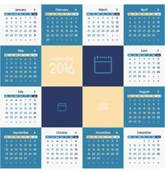 calendar 2016 2 vector image