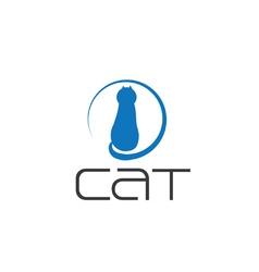 cat design template vector image