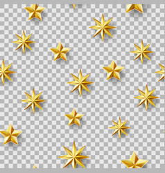 chaotic stars seamless pattern vector image vector image