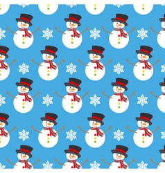 Christmas background snowman vector image