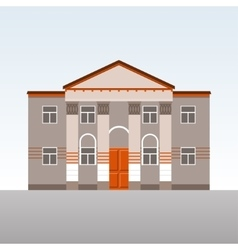 Classical building with columns vector image vector image