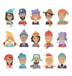 Collection of hats for all seasons boys and girls vector