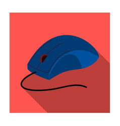 computer mouse icon in flat style isolated on vector image