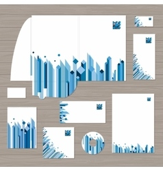 Cube Corporate Identity Template vector image