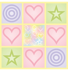 Day of Valentine background vector image vector image