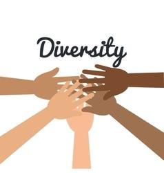 diversity concept design vector image vector image