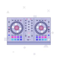 dj mixer controller flat line art vector image