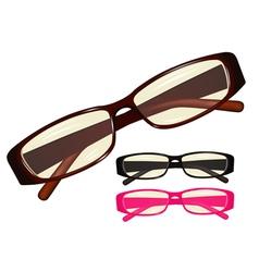 eyeglasses vector image vector image